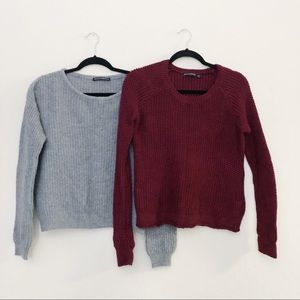 BRANDY MELVILLE bundle cropped sweater